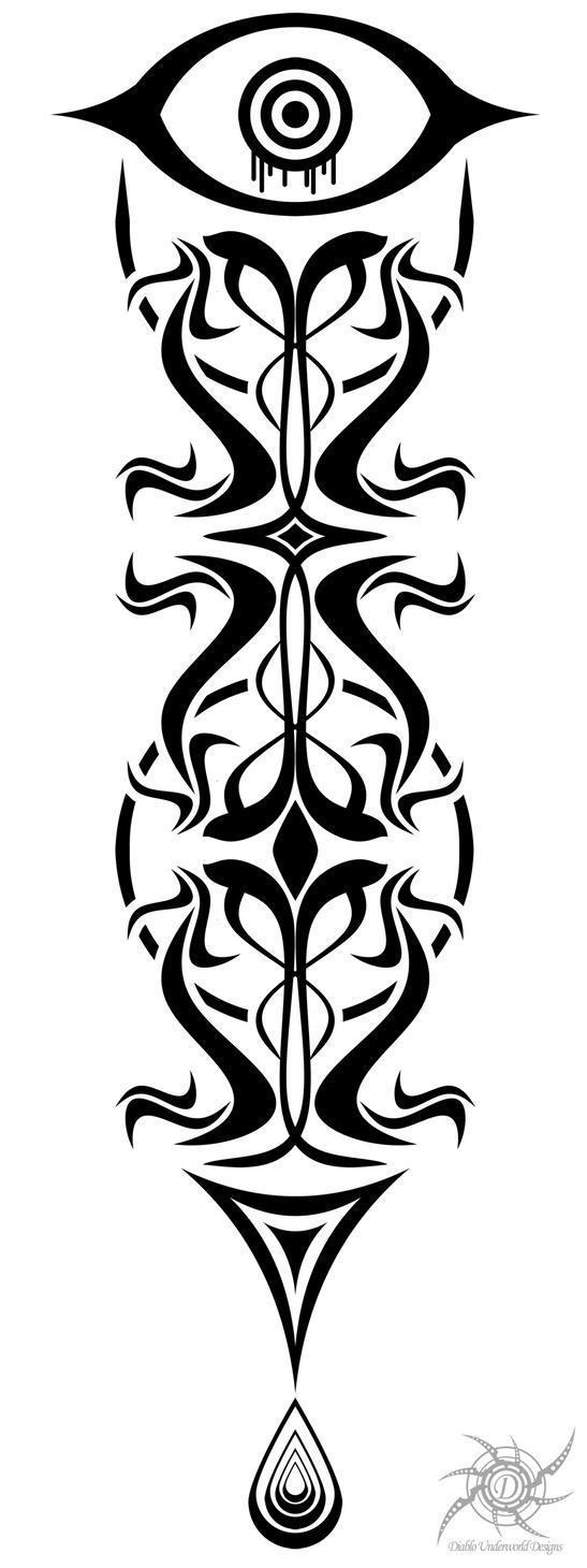 Back Spine Tattoo Designs