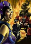 Evil Lyn VS Optimus Prime