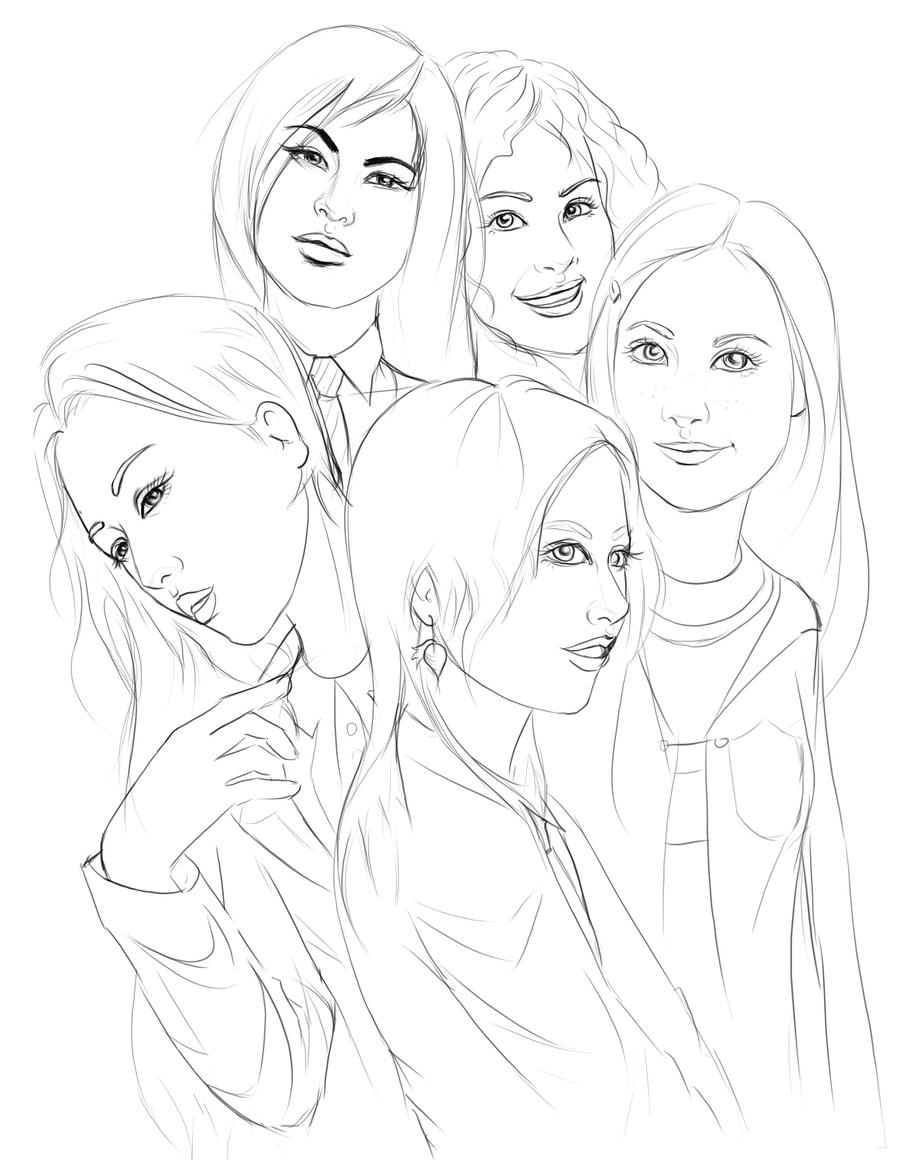 HP Girls - Colour me in by acidlullaby on DeviantArt