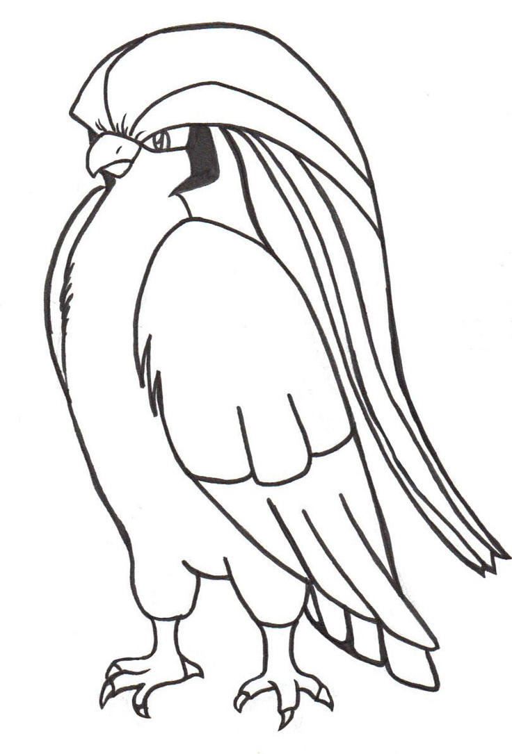 Pidgeot by inspectork1412 on deviantart for Pidgey coloring page