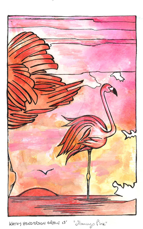Flamingo Pink by KathyHenderson-Green
