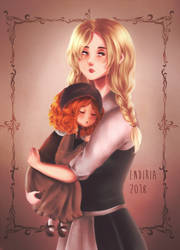 the fiery dumpling with mom by Endiria