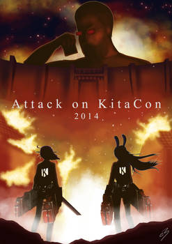 Attack on Kitacon! Art book submission 2014