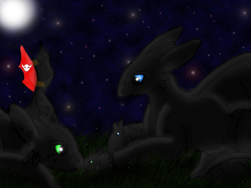 Toothless's Family by 95JEH
