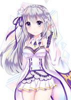 Emilia Re:Zero by Neko-Mikuu