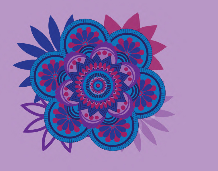 Vector Radial Design Purple by easeuponthecoffee