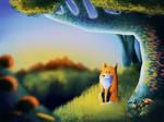 Fox in the woods #heynicebackground