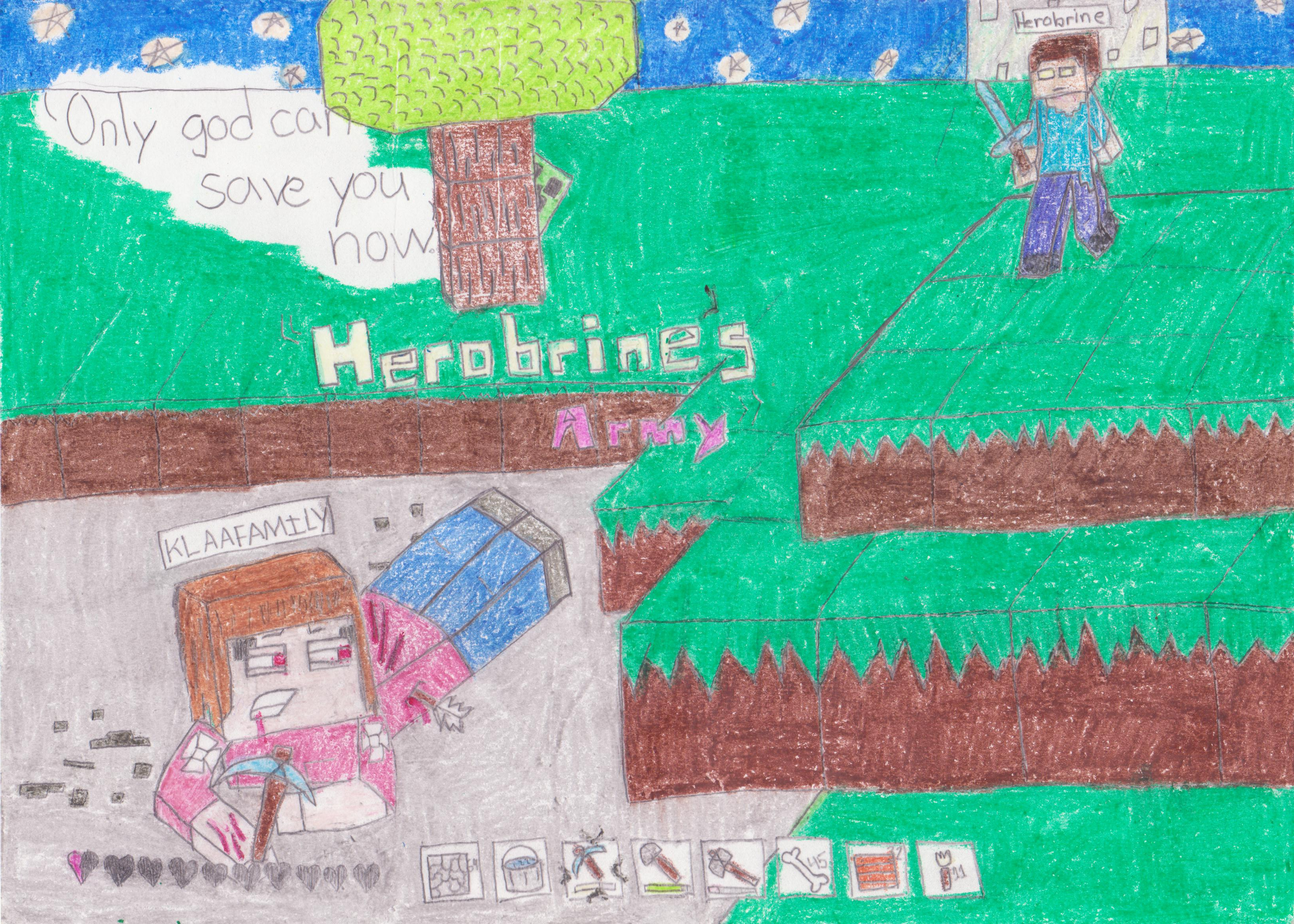 Herobrine\'s Army\' cover COLOR by robindri on DeviantArt