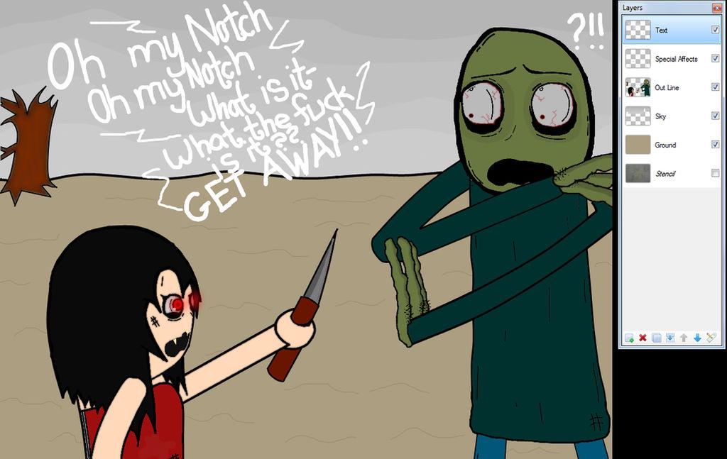 Robin meets Salad Fingers
