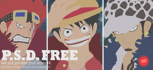 Luffy Law And Kid - PSD FILE