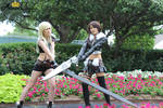 Final Fantasy Cosplay: Female Cloud/Female Squall