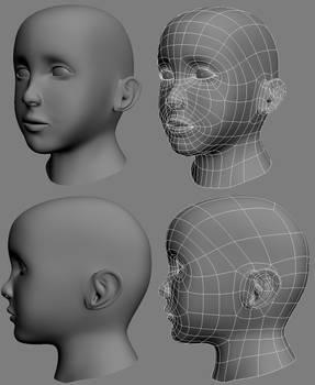 Female Child Head