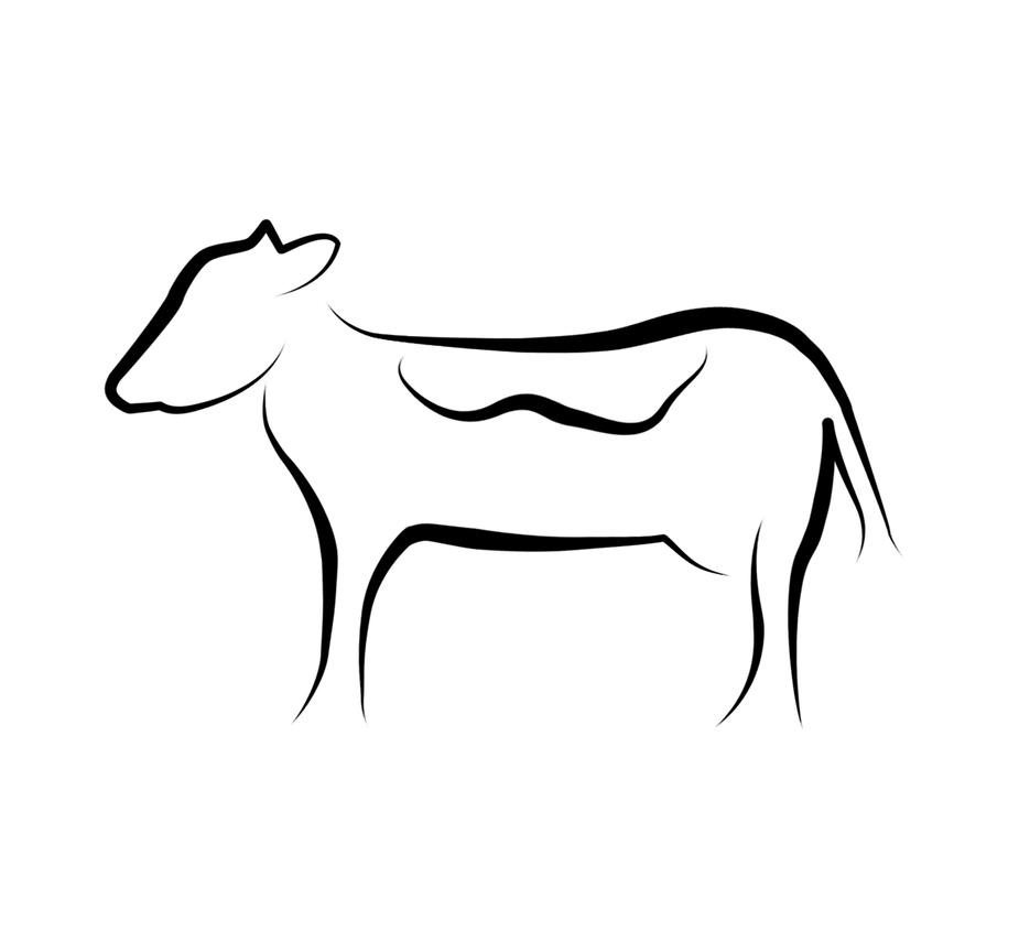 cow clipart simple - photo #45