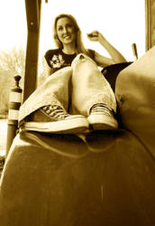 siting on a tractor by drunk-punks-kill