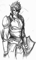 Classic Warrior of Light by Fusherin