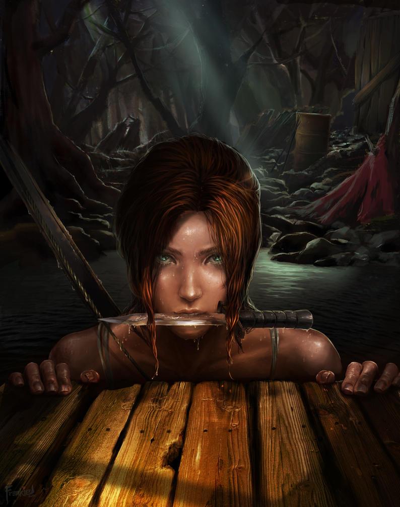 Tomb Raider Lara - The Rescue by frankiewCG
