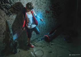 Teen cyborg (thug) by AntoineCollignon