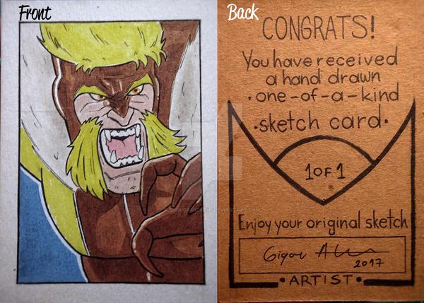 Sabretooth sketch card by shinigamizachi