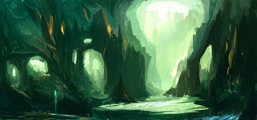 green cave by rahzy
