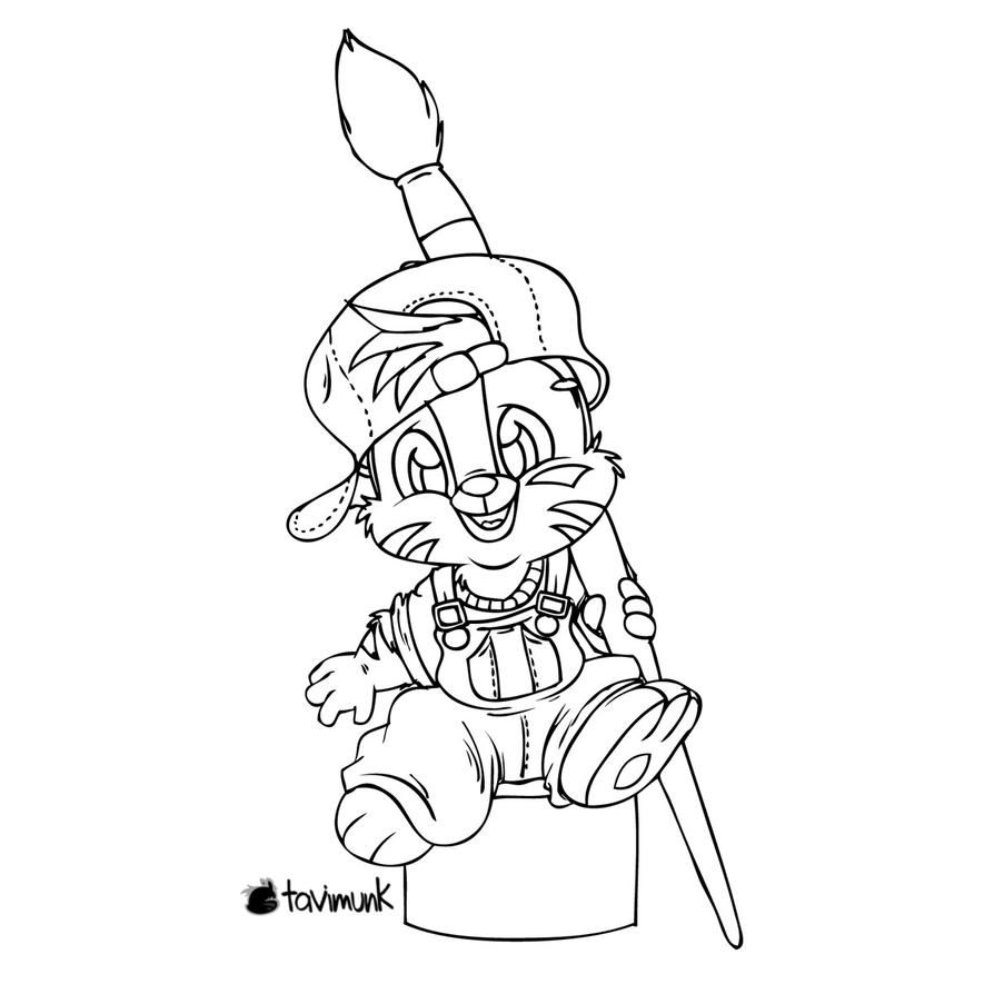 Lil Painter lineart by Tavi-Munk
