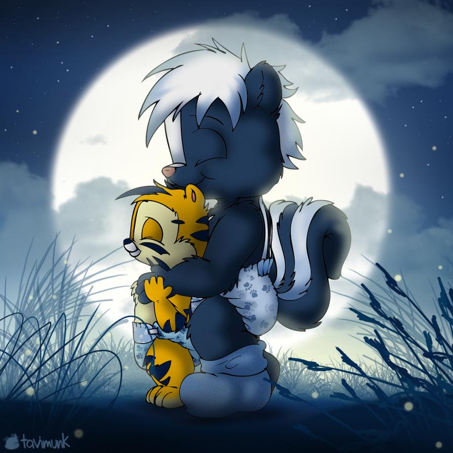 Moonlight Cuddles by Tavi-Munk
