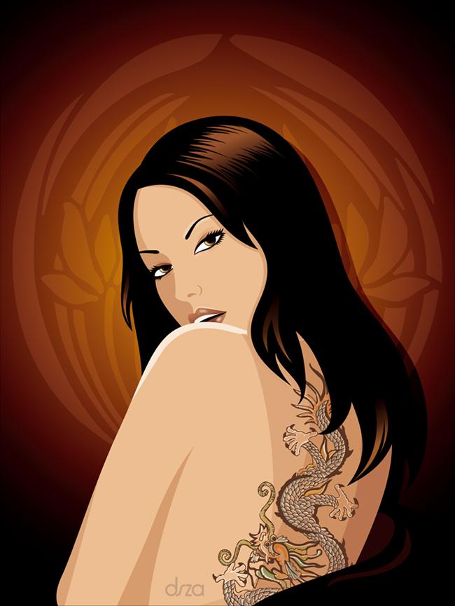 Tattooed Girl by dsza