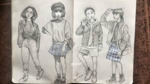 Studying girls~