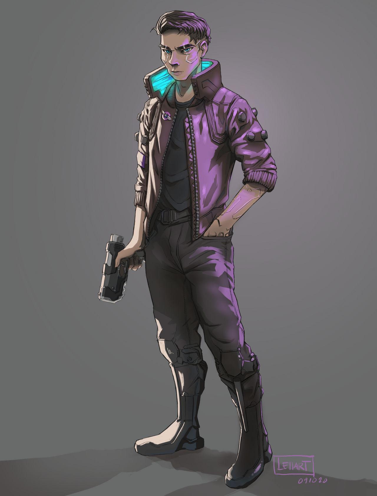 JC (Cyberpunk 2077) Original Color.