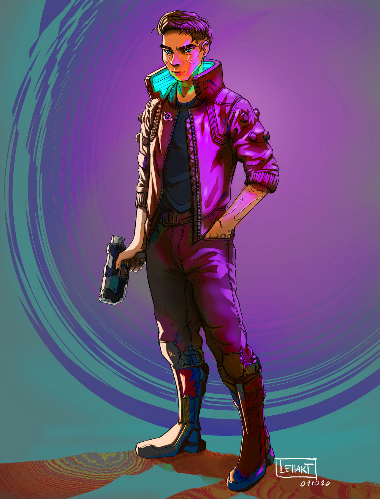 JC (Cyberpunk 2077) Saturated.