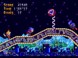 Sonic 4 Genesis: White Park: Vs. Metal Sonic by TrueBlueMichael