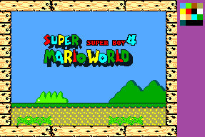 SuperMarioWorld for SMS Title Mockup
