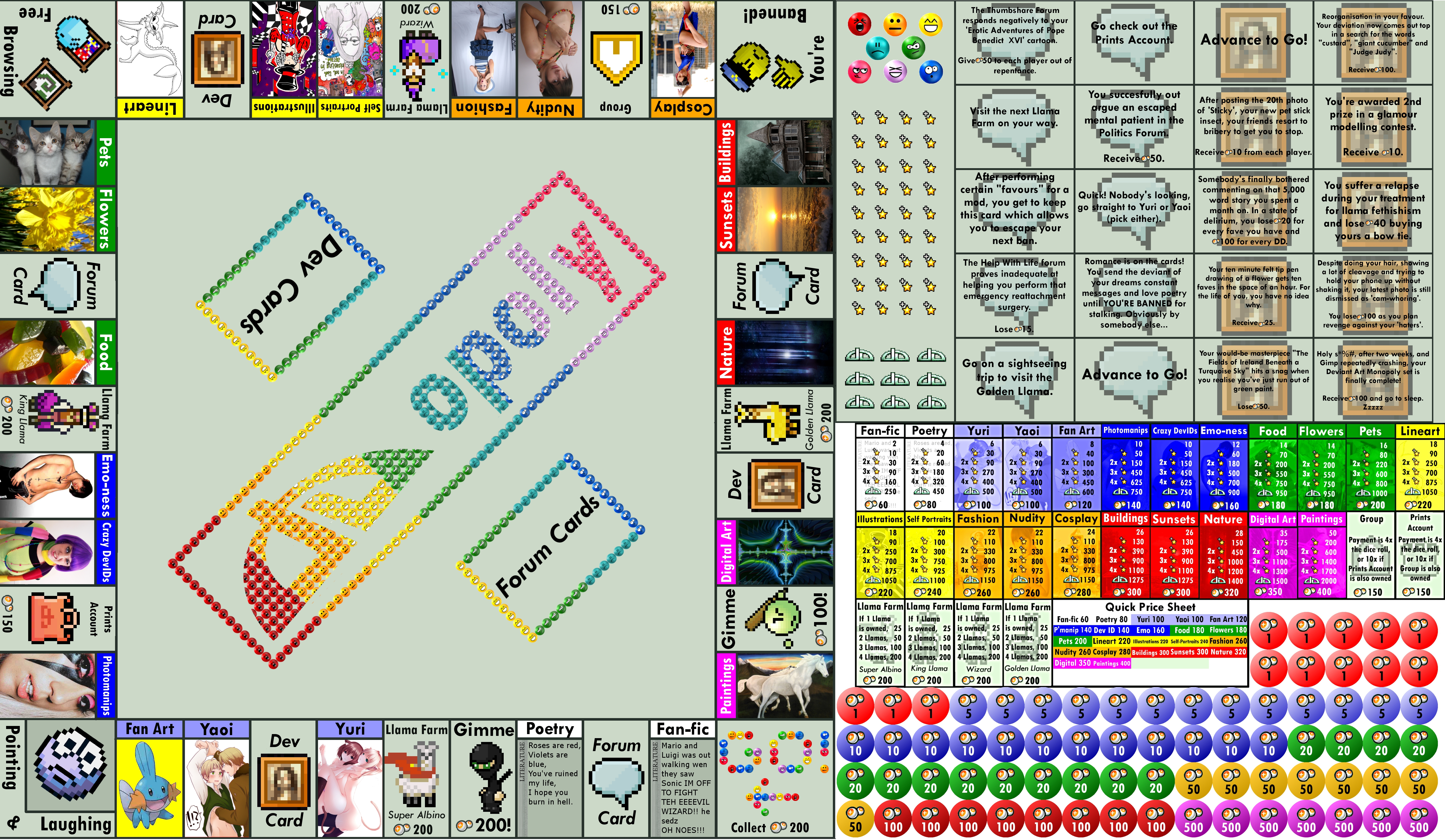 Deviant Art Monopoly by redruM-110