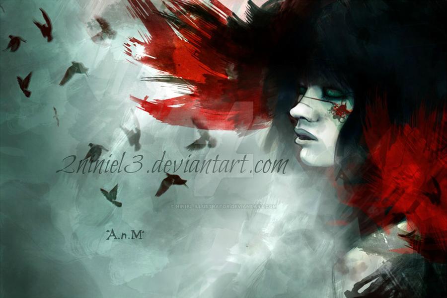 Nero eyes by Niniel-Illustrator