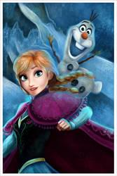 Anna - Olaf Frozen. by Niniel-Illustrator