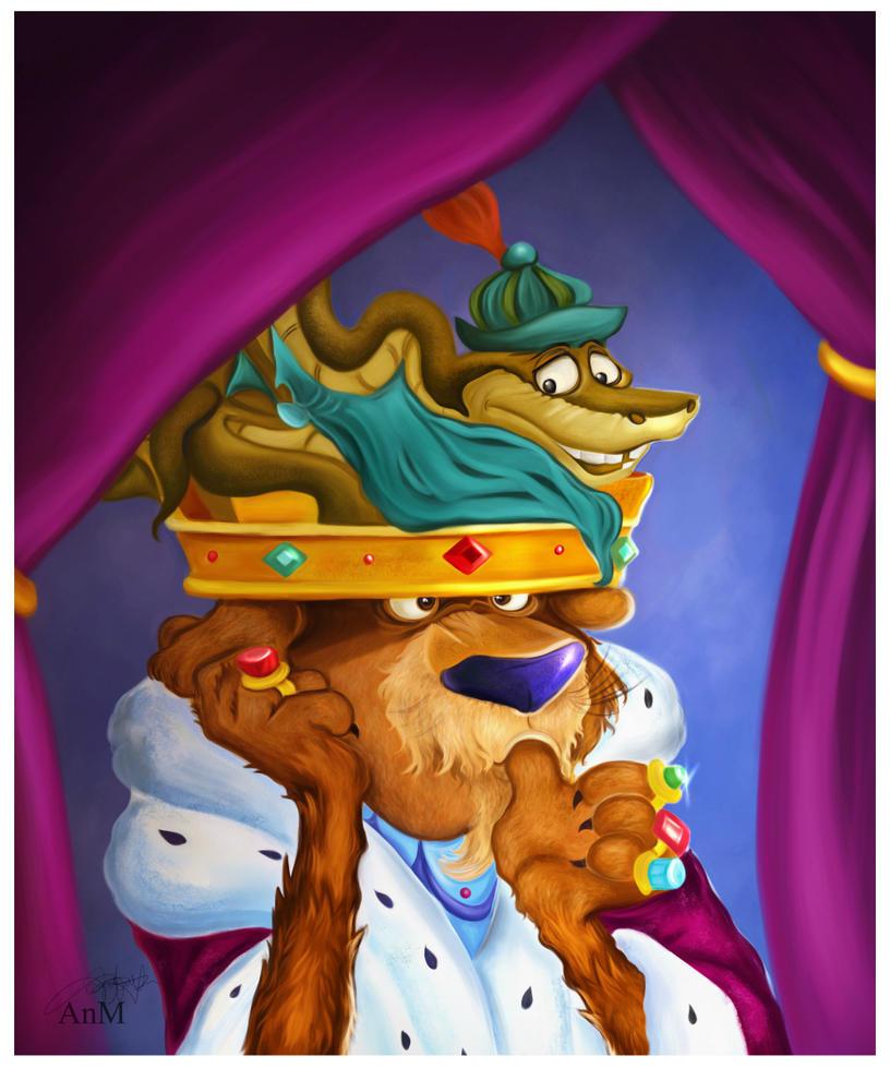 Prince John and  Sir Hiss by Niniel-Illustrator