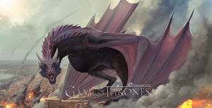Game of Thrones - Dragon Drogon by IrenBee