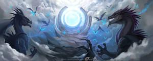 Dragon Vermitor Vulom and Morraug by IrenBee