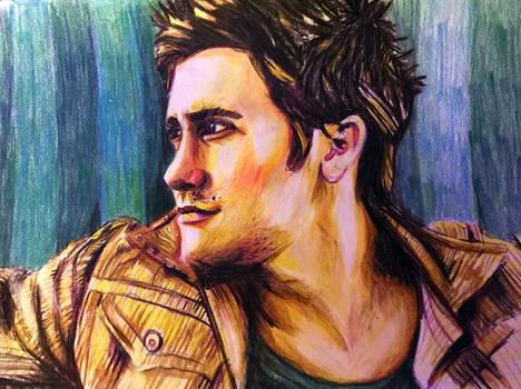Jake Gyllenhaal Colourful Sketch