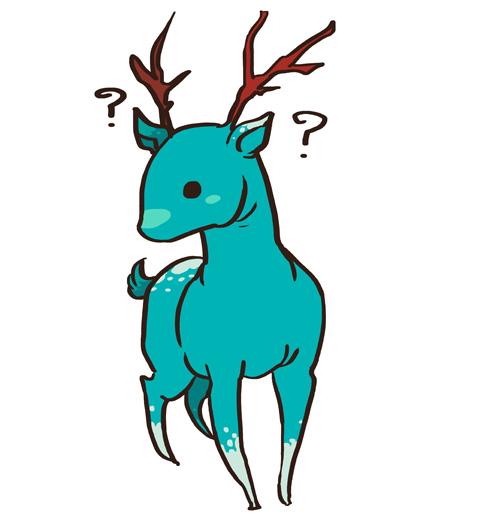 Teal deer by sharihes