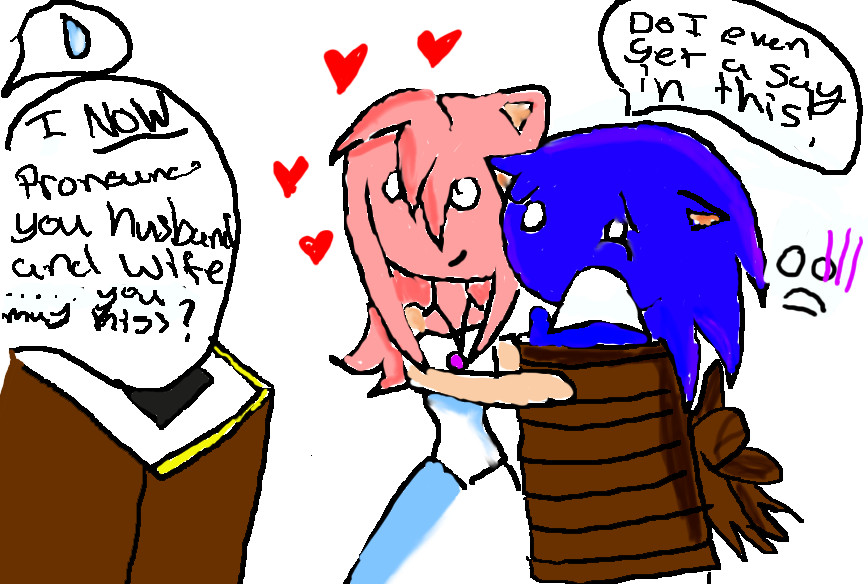 sonic and amy. Getting married by luna6689 on DeviantArtAmy And Sonic Wedding