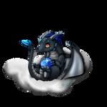 Baby Gragen on cloud