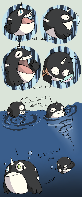 PKMNation - Oreo takes a swim by Kamajii-the-mog