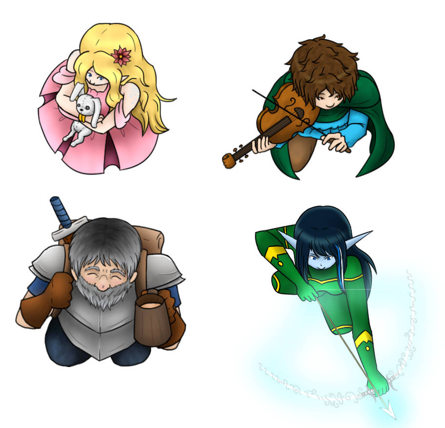 Roll20 Dungeons and Dragons Character Tokens by ShadowDragonia on