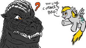 Derpy Meets Godzilla