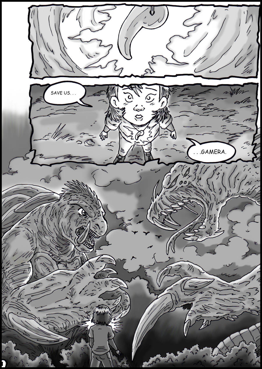 Godzilla vs. Gamera - Page 1 by kaijukid