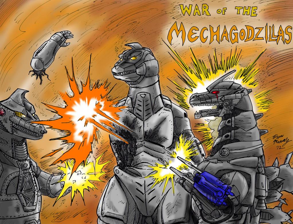 War of the Mechagodzillas by kaijukid