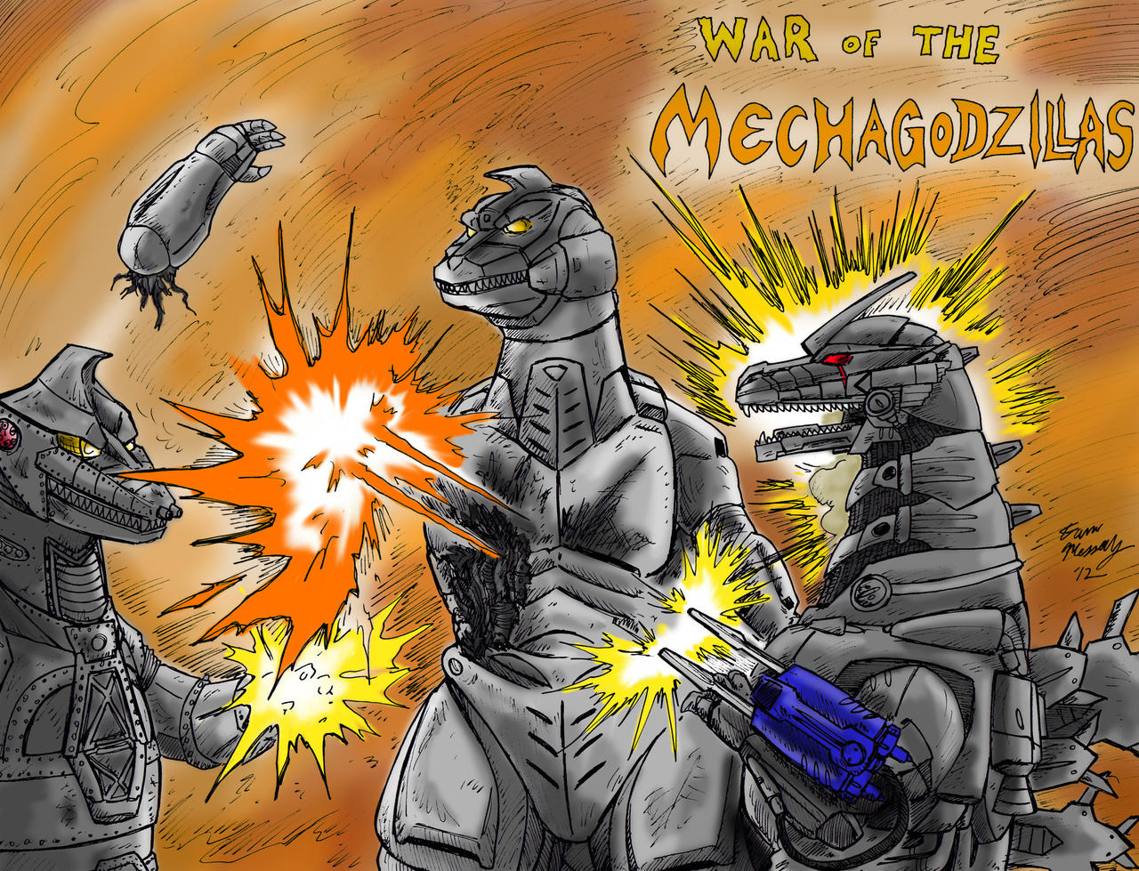 War of the Mechagodzillas by kaijukid