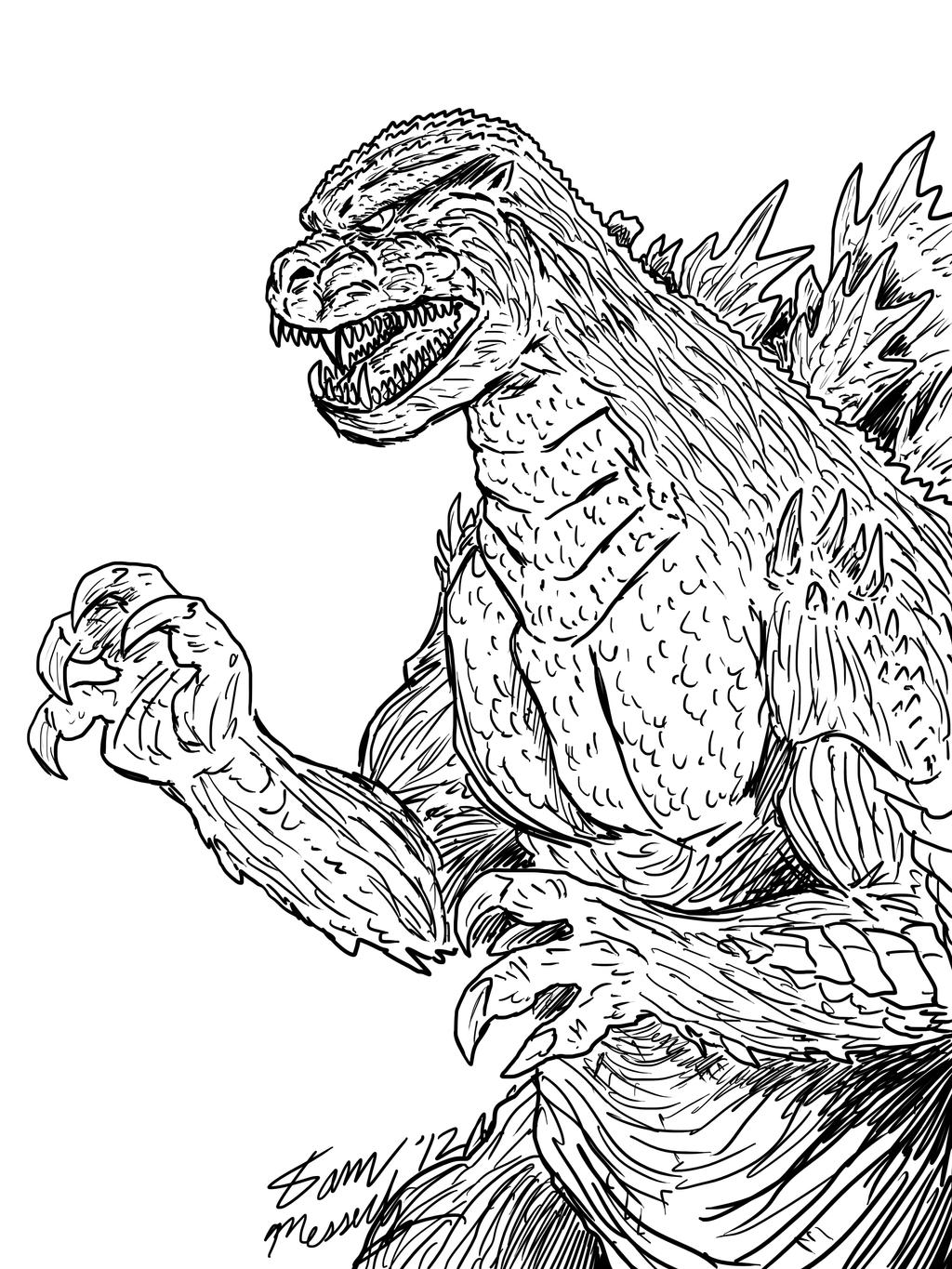 Mean Godzilla Concept by kaijukid