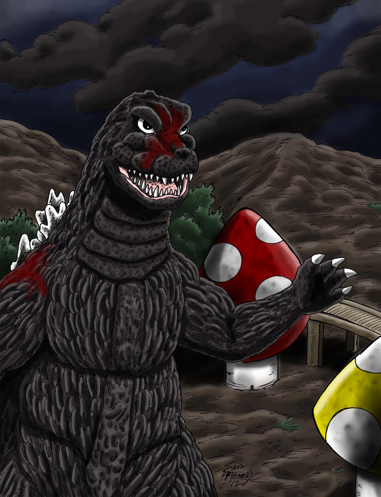 Godzilla's Strong Again! by kaijukid