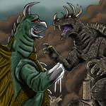 Anguirus Vs. Gigan, Godzilla At World's End.